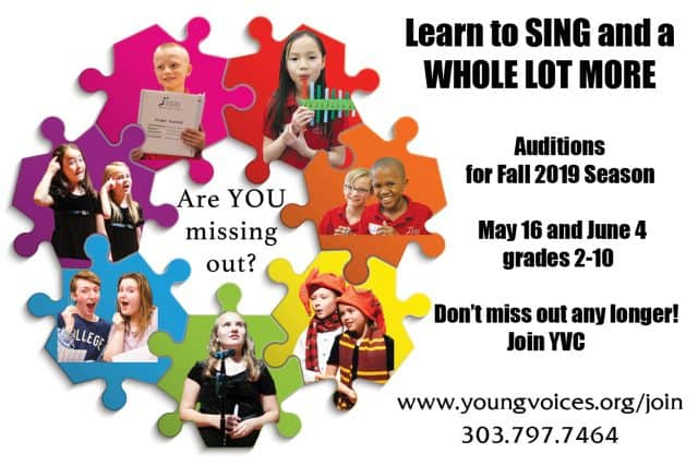 New Singer Auditions @ Young Voices of Colorado Studio   Englewood   Colorado   United States